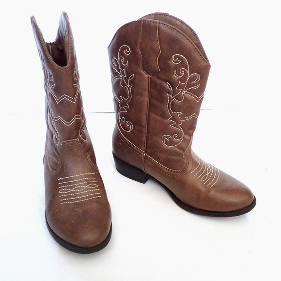 d5812e85380 FADED GLORY Embroidered Cowgirl Boots Round Toe